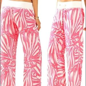 Lily Pulitzer the beach pant pink sun ray M
